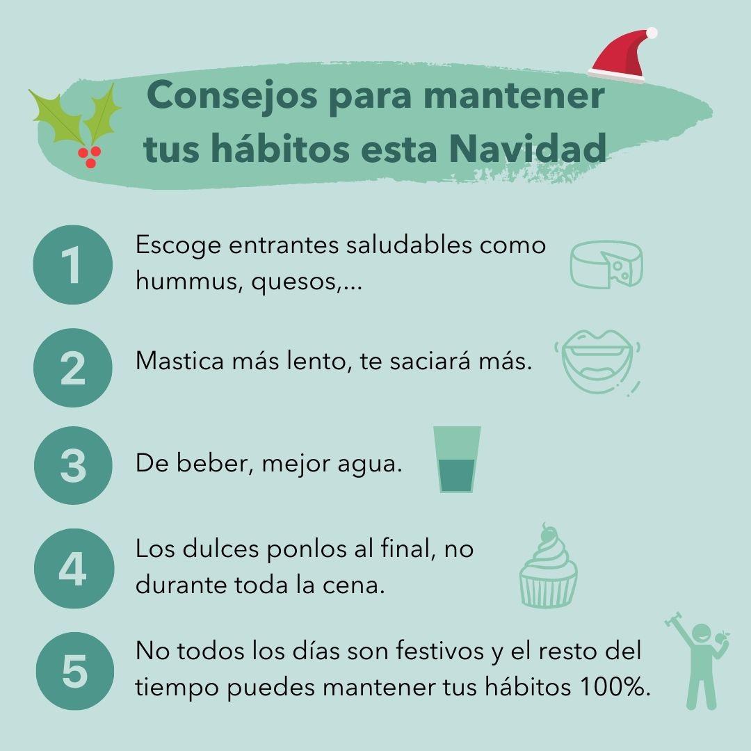 consejos hábitos menú navideño
