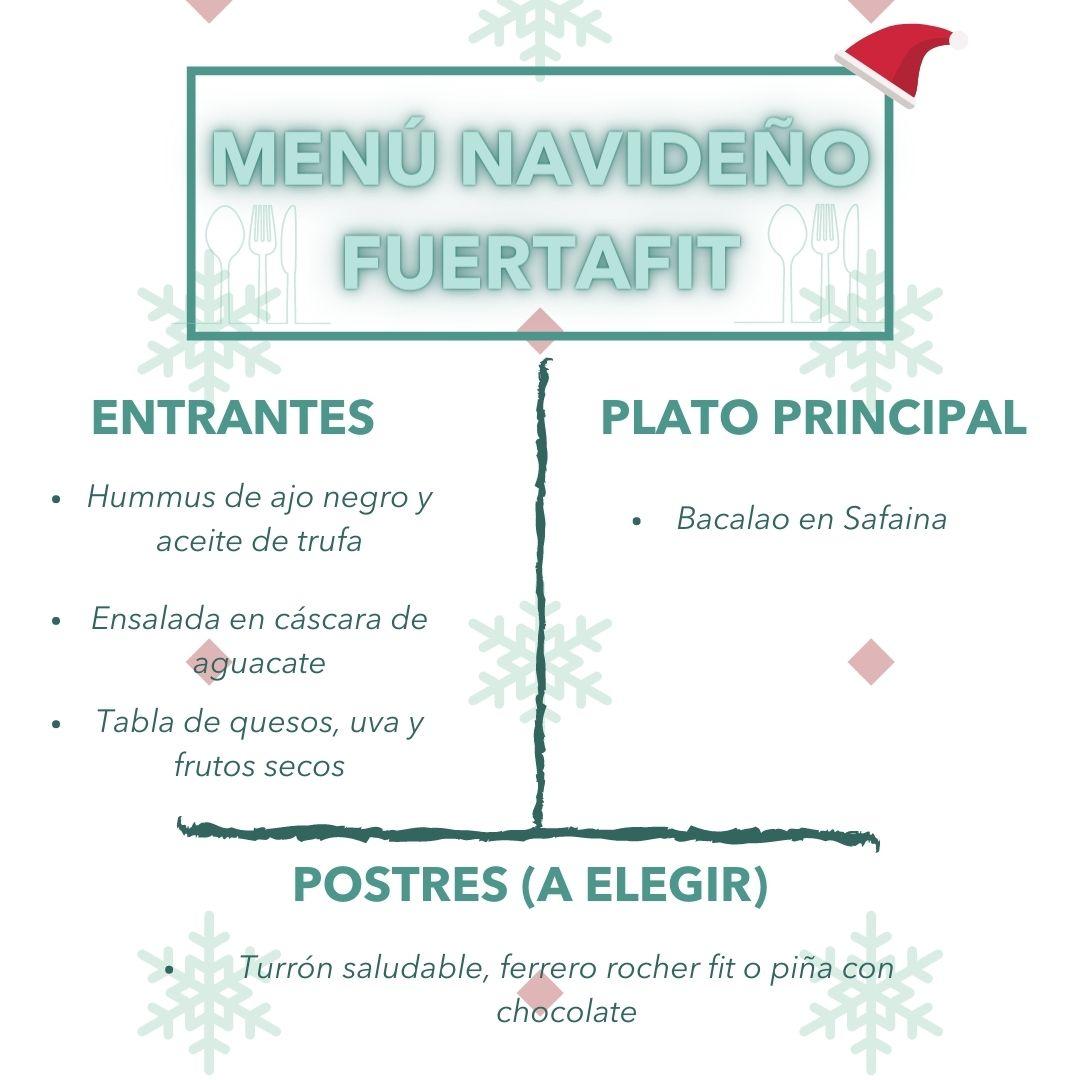 menu navideño saludable fuertafit