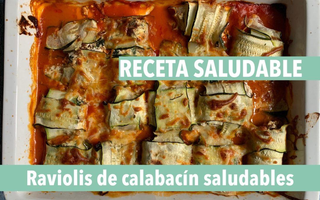 receta saludable raviolis de calabacín