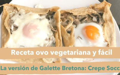 Receta ovo vegetariana y facil: Crepe Socca
