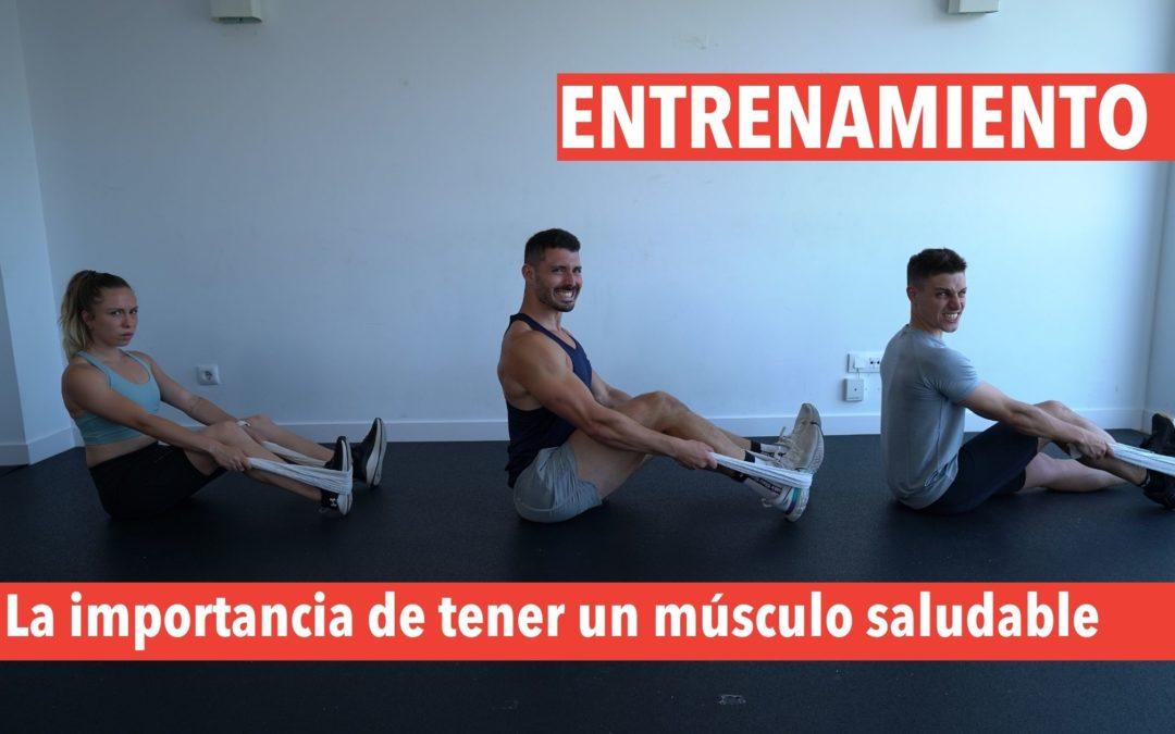 entrena fuerza para músculo saludable