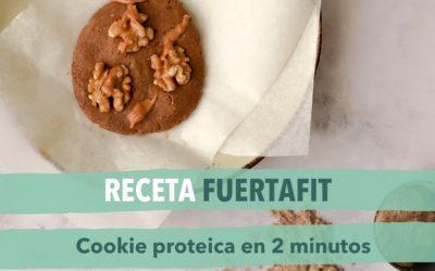 Receta de galleta saludable: Cookie en 2 minutos