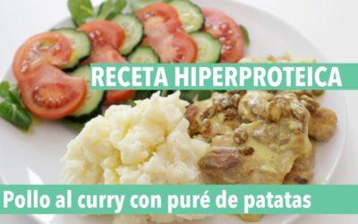Receta hiperproteica y saludable: pollo al curry con puré de patatas