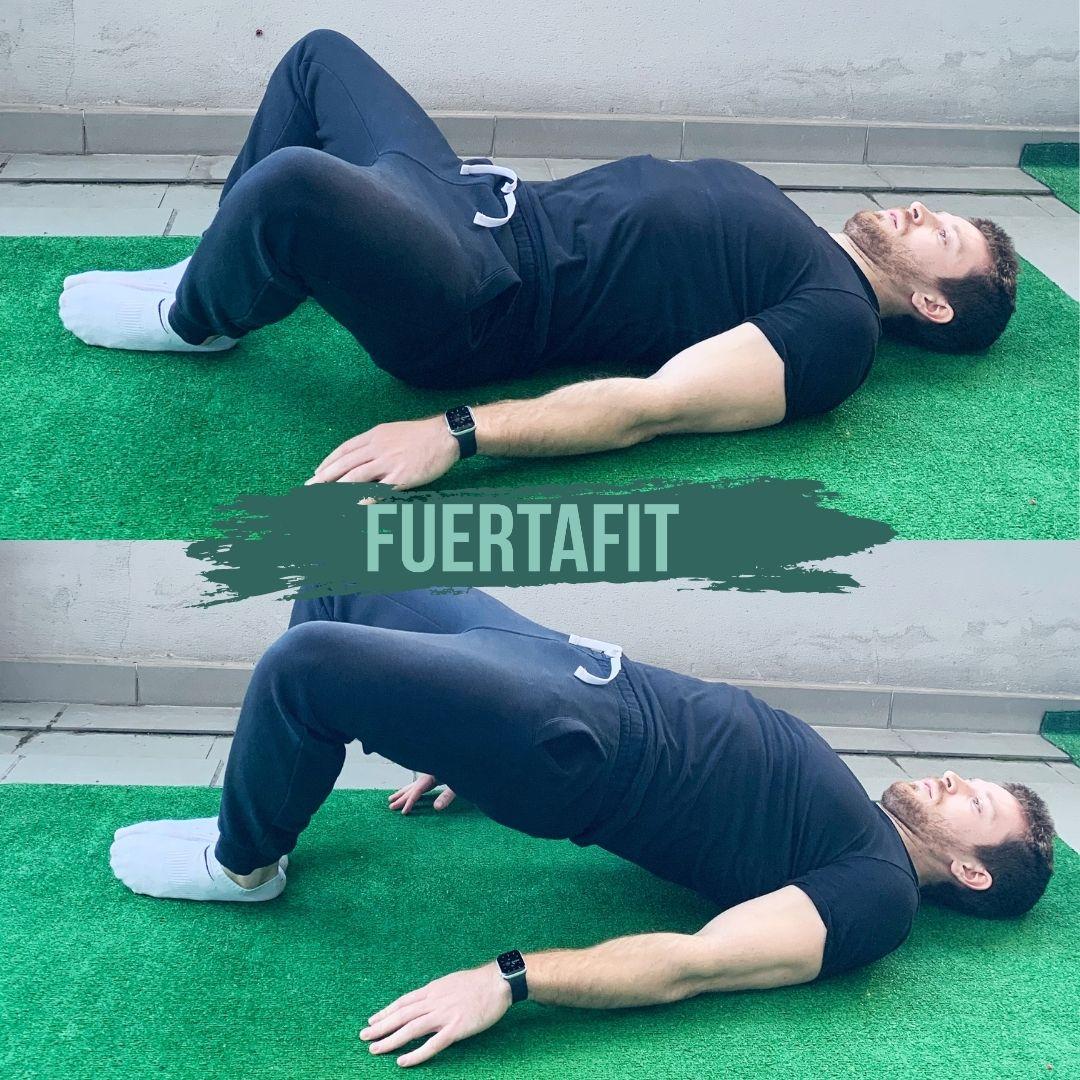 ejercicios de glúteos frog pump fuertafit