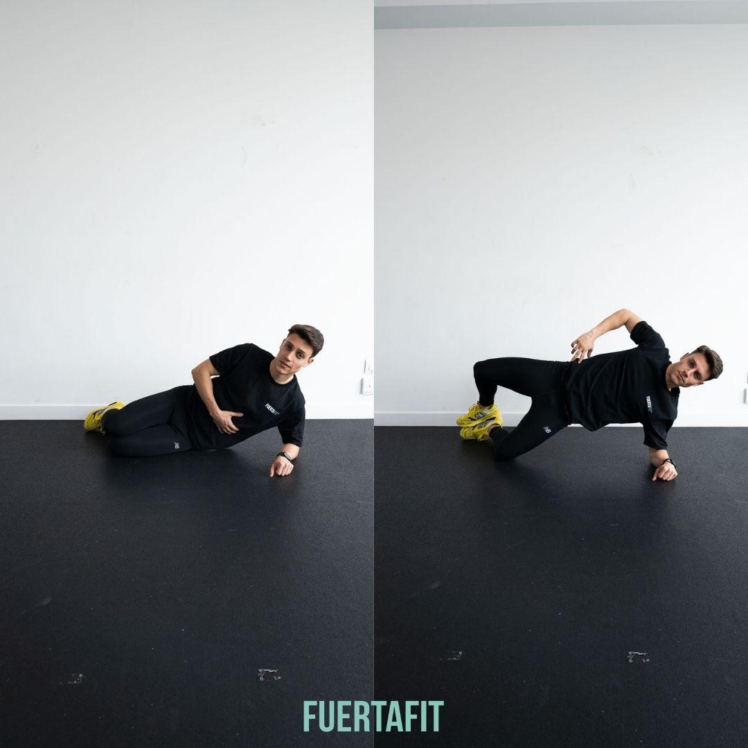 abducciones de cadera en suelo rutina de piernas y glúteos