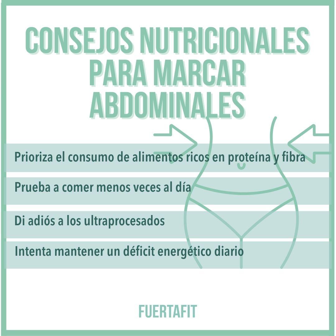 marcar abdominales cómo comer